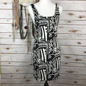 NWT Silence & Noise Boho Tribal Fitted Dress